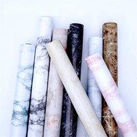 흰색 회색 대리석 벽지 쉽게 이동식 벽지 껍질과 스틱 카운터 탑 주방 벽 스티커 0.6 * 1m