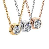 Cristal Diamond Freeze Fine Jewelry Colar Set Prata 24k Diamante Presente Para Mulher Jóias Casal De Aço Inoxidável Colar