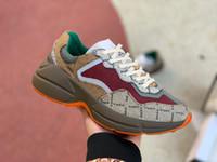 2021 mujeres para hombre Zapatos deportivos al aire libre Rhyton Entrenadores Vintage Zapatillas De Zapatillas De Zapatillas De Zapatillas De Arte Retro Do Diseñador De Lujo De Lujo De Lujo