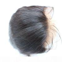 Chiusura frontale pieno pizzo 13x2 diritta brasiliana capelli umani orecchio a orecchio top pizzo frontale pezzi all'ingrosso Prezzo