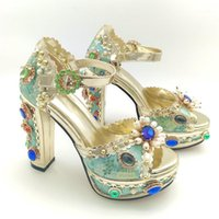 Salu Echtes Leder Sandalen Frauen Offene TOE Barockstil Seltsame High Heels Schuhe Schnalle Schuhe Frau Sommer Plus Größe 32-431