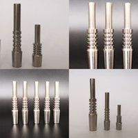 Titânio Durável Dica Nector Collector 10 14 18mm Metal Cigarro Nail Fit Fumar Gadget Venda Quente Top 13bs E19