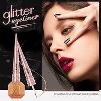 키스 아름다움 반짝이 액체 아이 라이너 다이아몬드 골드 실버 브라운 아이 라이너 방수 오래 지속 반짝이 금속 아이 라이너