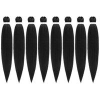 미리 뻗어있는 꼰 머리 16 인치 -8Packs / lot 가려움없는 뜨거운 물 설정 합성 섬유 크로 셰 뜨개질 머리카락 꼰 머리 확장 꼰 머리