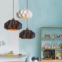 Creative Polygon Подвесные светильники Nordic Современная обеденная комната Свет одинарной головки металлический ресторан кафе бар висит лампа