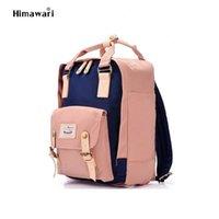 Himawari Brand Cute Nylon Travel Women Waterproof Laptop Backpack Large Capacity Mummy Mochila School Bag no1 A1113
