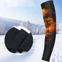 1 stück sport armguard herbst und winter fleece warme kalte kalte elbogenhülse outdoor ski bergsteigen radfahren läuft dünne e169