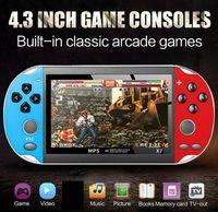 x7 핸드 헬드 게임 콘솔 4.3 인치 스크린 MP5 플레이어 비디오 게임 X7 Plus TV 출력 게임에 대한 레트로 8GB 지원 비디오 음악 e-book