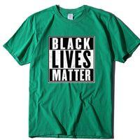 Siyah hayat önemli! Sivil Haklar T Gömlek Protesto Işareti Erkekler T Gömlek Baskı Pamuk Kısa Kollu T Gömlek 2021