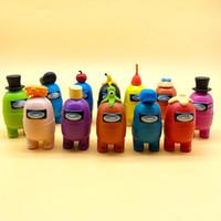 12 قطع بيننا اللعب أنيمي الشكل مصغرة نماذج الكرتون عمل لعبة أرقام لعبة diy الديكور كبسولة الدمى المربع