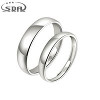 New Simple Wedding Bands 990 Sterling Silver Adjustable Love...