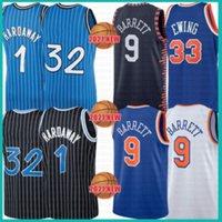 2021 New Shaquille Basketball Jersey 32 Mens Penny 1 Hardaway Mesh Tracy 1 McGrady Retro RJ 9 Barrett pas cher Patrick 33 Ewing Purple