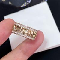 Moda Gold Diamond Ring BAGUE PER LADY DONNE DONNA PARTY AMANDE AMANDE GIOCATICHE GIOCAGLIE GIOIELLI per la sposa con scatola