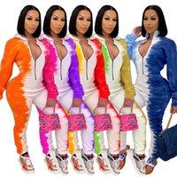 Tasarımcı Bayan Bodycon Zarif Tulum Tulum 2020 Güz Kış Seksi Gelişmiş Zanaat Moda Baskı Tek Parça S-XXL