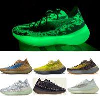 PK Version 380 Calcite Glow Chaussures Femmes Hommes Sneaker Sneaker Onyx Non Refletin Running Shoe Alien Hylte Glow Pepper Kanye Ouest