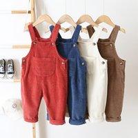 1-3 года детские детские брюки комбинезон унисекс мода твердые прямые конденсиры комбинезоны для мальчиков девушки комбинезон осенью новое поступление 201112