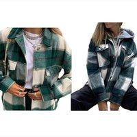 Women plus size Jackets fall winter clothes warm coat long sleeve cardigan button outerwear lapel neck sweatshirt fashion stylish gym 0720