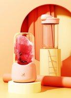 350 ml juicer de frutas colorido licuadora linda pequeña gato portátil multifunción mezclador mezclador recargable mini juicer taza