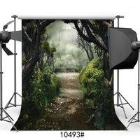Фотография фона для фотостудии лес замки сказка виниловая ткань портрет фото фона для свадьбы детей младенца1