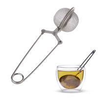 Tea Infuser aço inoxidável 304 Sphere malha coador de chá de café Herb Spice Filtro Difusor Handle Tea Bola IIA888