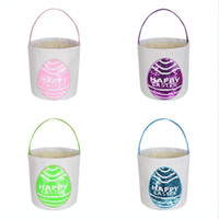 New Arrival 4 Colors Personalized Easter Bucket Sequins East...