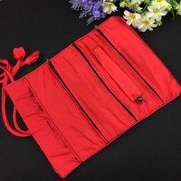Envoltura de regalo 11x7 pulgadas de lujo de seda brocado joyería bolso de viaje con cremallera con cremallera con cordón cosmético maquillaje de almacenamiento de envasado para