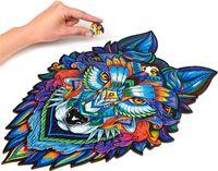 Nuovi puzzle di legno di legno per adulti Puzzle fai da te Ogni pezzo è puzzle a forma di animale Regali di Natale per bambini Jigsaw 21cmx 29,7 cm GRATIS