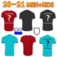 2021 Новый футбол Джерси Вирджил Фирино Мано М. Салах Хендерсон Робертсон Вентиляторы Версия Главная АмСПОРТ Рубашка Человек + Детская футбольная футболка