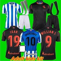 Kit de adultos Kit 20 21 Real Sociedad Soccer Jersey X.PRieto Juanmi Agirretxe Carlos Custom Home 2020 2021 Reale Arena Edición Limitada Footbal