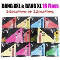 Новый Bang XL и Bang XXL XXTRA Одноразовый Vape Device Pen 2000 Puffs 800 мАч Батарея Предварительно заполненные 6 мл PODS Картриджи Пара E Cigs Vaporizer