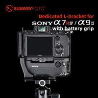 SunwyayFoto PSL-A7RIVG Treppiede Testa a sgancio rapido Piastra ARCA per fotocamera A7RIV / A9II con batteria Grip L-staffa