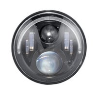 Faro del proyector LED redondo de 7 pulgadas 36W con anillo de halo Ojo de ángel Hi-Lo Beam H4 Canbus Harness 12V / 24V para touring Softail