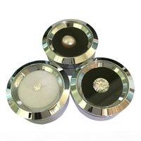 Wholesale Plata linda de acero inoxidable Gema Diamante Diamante Caja de almacenamiento Reversible DoubleSide Uso Esponja Bead Stud Pendiente Rhinestone Caja