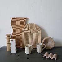 BECH HOLZ HAPPING BLOCK BREAD Dessertschale Spirale Schneidebrett Lagerung Organizer Küchenwerkzeug für Kuchen Stand
