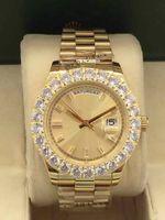 뜨거운 패션 스포츠 탑 럭셔리 디자이너 직경 43mm 큰 다이아몬드 수리 철강 자동 기계 남성 접는 버튼 방수 시계