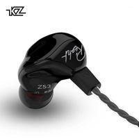 Kulaklıklar Kulaklık KZ ZS3 1DD Ergonomik Ayrılabilir Kablo Kulaklık Kulak Ses Monitörler Gürültü İzolasyon Hifi Müzik Spor Kulakiçi M