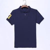 Polo Ralph Lauren Yüksek Kalite Klasik Polo Gömlek Erkekler Katı Kısa Kollu Hommes Casual Polo Erkekler T-Shirt Erkek Polos Gömlek 8200 Poloshirt