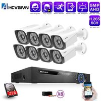 8CH 5MP HD CCTV Kamerasystem AHD DVR Kit 8 stücke 5MP IR Nacht Outdoor-Sicherheitskamera P2P Videoüberwachungskit 2 TB HDD1