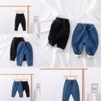 GNCGQ Niños Chaqueta Niños Niños Ropa Bebé Big Mantenga Cálido Jeans Bebé Diseñadores Infantos Añadir Velvet Boy Ropa Niños Jeans Espesar