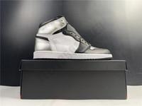 2021 com caixa alta prata toe 1 1s og alto basquete Basketball Sapatos de basquete preto pálido CD0461-001 Sapatilhas atléticas tamanho 36-46