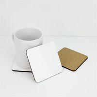 10 * 10 cm Sublimation Coaster Blank Bois Tapis de table MDF Isolation thermique Tapis de transfert thermique pour l'amant de DIY A03