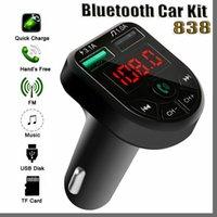 838D BTE5 Lecteur MP3 Lecteur MP3 Bluetooth FM Transmetteur FM Modulateur FM Dual USB Chargement du port pour 12-24V Véhicule général 2021