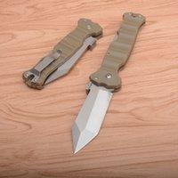 OEM 23GVG Cuchillo plegable táctico 8CR13MOV Tanto Satin Blade Sand G10 + Hoja de chapa de acero inoxidable con caja de venta al por menor