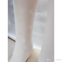 Medias de Chicas Blancas para la letra de otoño de invierno Leggings impresos para mujeres Moda Dama Sexy Lace Medias