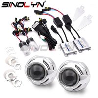 Other Lighting System Sinolyn Headlight Lenses Full Kit Bi-xenon Lens 3.0 H1 HID Projector For H4 H7 9005 9006 Car Lights Accessories Tuning