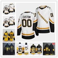 2021 Pittsburgh Penguins Reverse Retro Jerseys Hóquei Patric Hornqvist Sidney Croby Cody Ceci Kasperi Kapanen Jared McCann Ferrugem Malkin