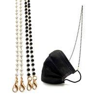 LMask Lanyard Beads Face Mask Holder Collar de cadena de peso Luz de peso Diseñador de moda Moda de moda Face Shield Strap Retenedor para mujeres niños JK2101XB