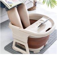 Pied de bain pliable Bateau à pied Seau plaine Moussage Massage Bucket Bason Sauna Baignoire Basin Réduire JLLSDJ