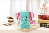 Stil Baby-Cartoon-Tier-Korallen-Decke Bär-Eule Elefant Totoro Plüsch Multifunktionskissendecke 75x95cm Klimaanlage PPE4104