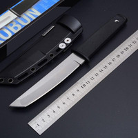 Nouvelle arrivée 17T Kobun Survival Straight couteau Tanto Point Satin Blade Utilitaire Couteau à lame fixe Outils de chasse Livraison Gratuite